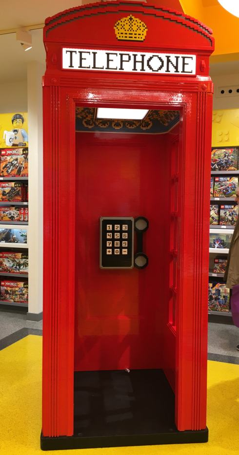 Cabine telephonique, red boxes, Lego