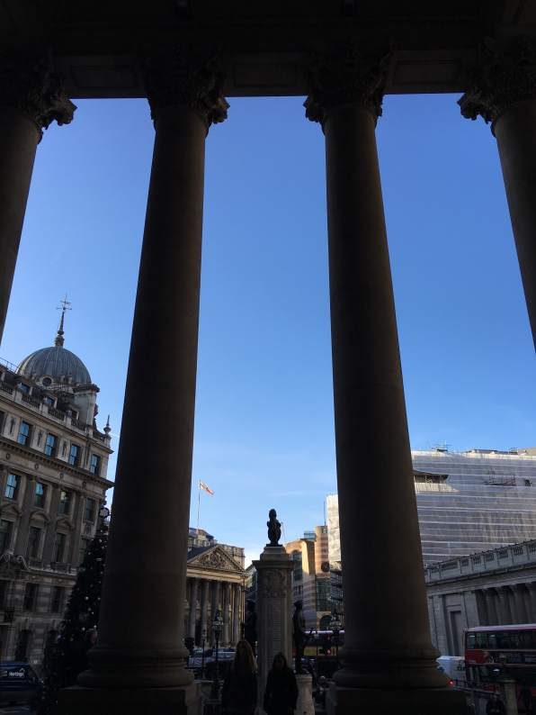 View from the inside of the Royal Exchange, City of London