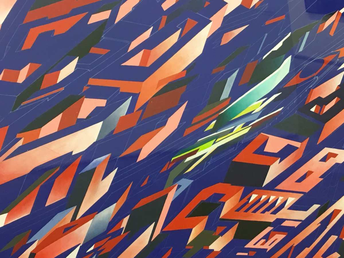 Zaha Hadid's exhibition, The serpentine Gallery, painting, architecture, london