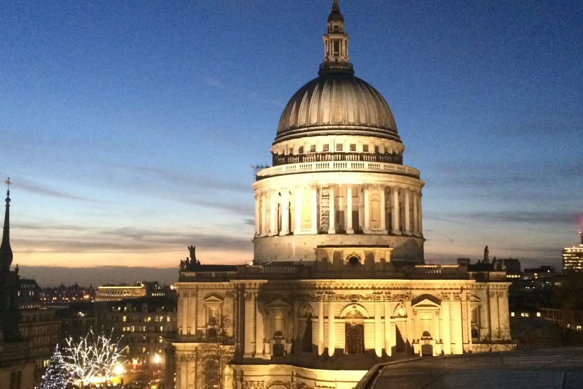 St Pauls Cathedral, London, Architecture, city, night