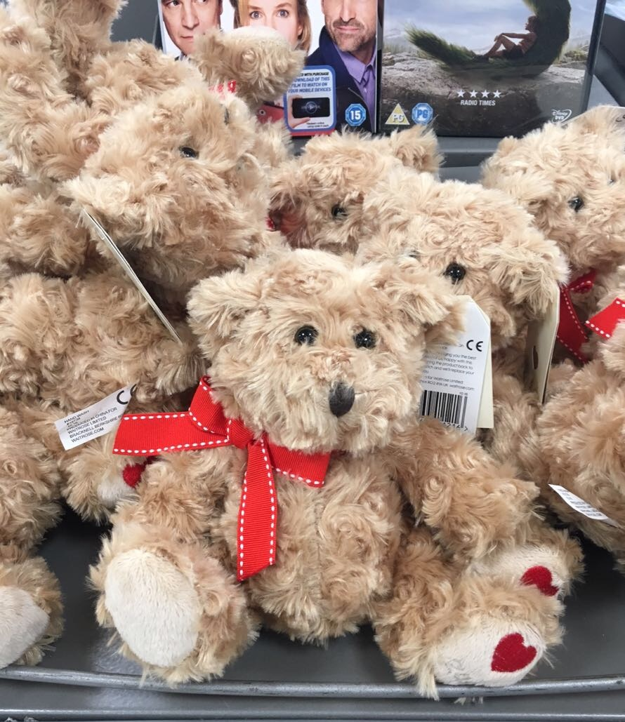 Teddy Bear, Valentine's day, Waitroe, London