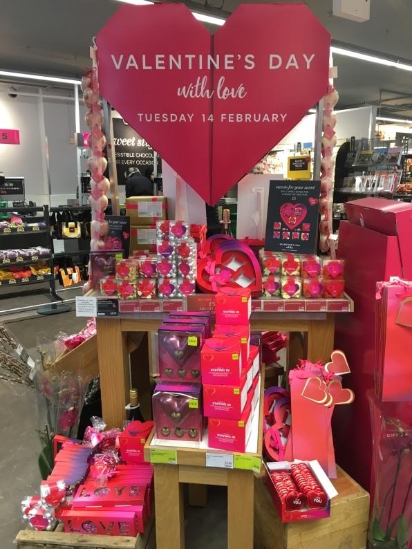 Valentine's day, Marks & Spencer, London