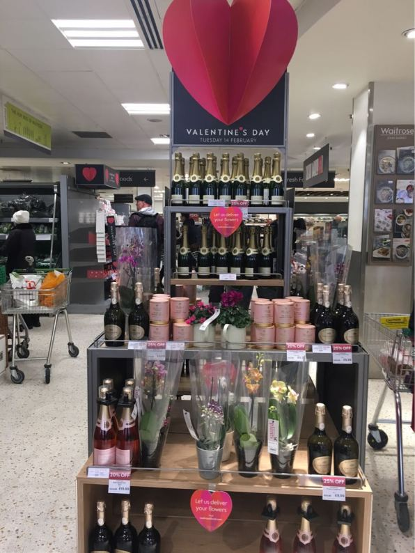 Valentine's day, Waitrose, London