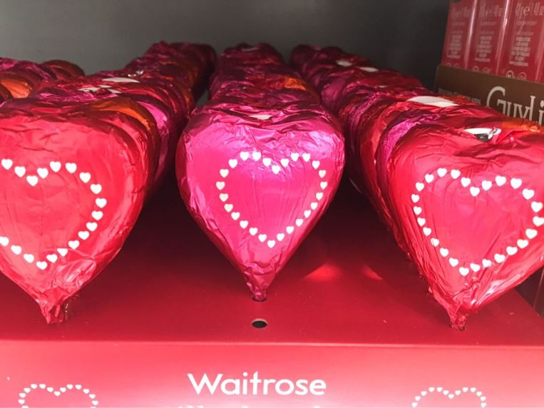 Valentine's day, Waitrose, Chocolate, London