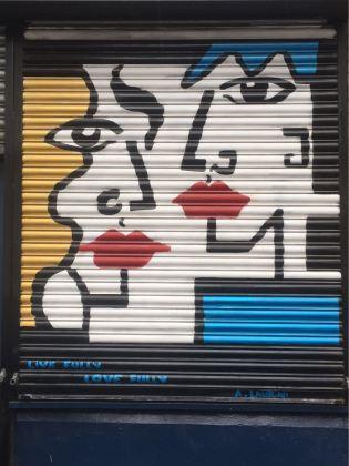 Anna Laurini, artist, street art, Rivington Street, London