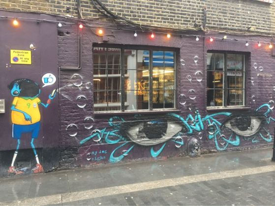 My Dog Sighs, Artist, Street art, Rivington Street, London