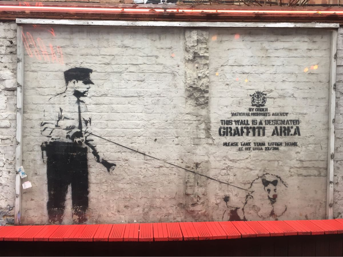 Banksy, Designated Area, Cargo Club, Rivington Street, London