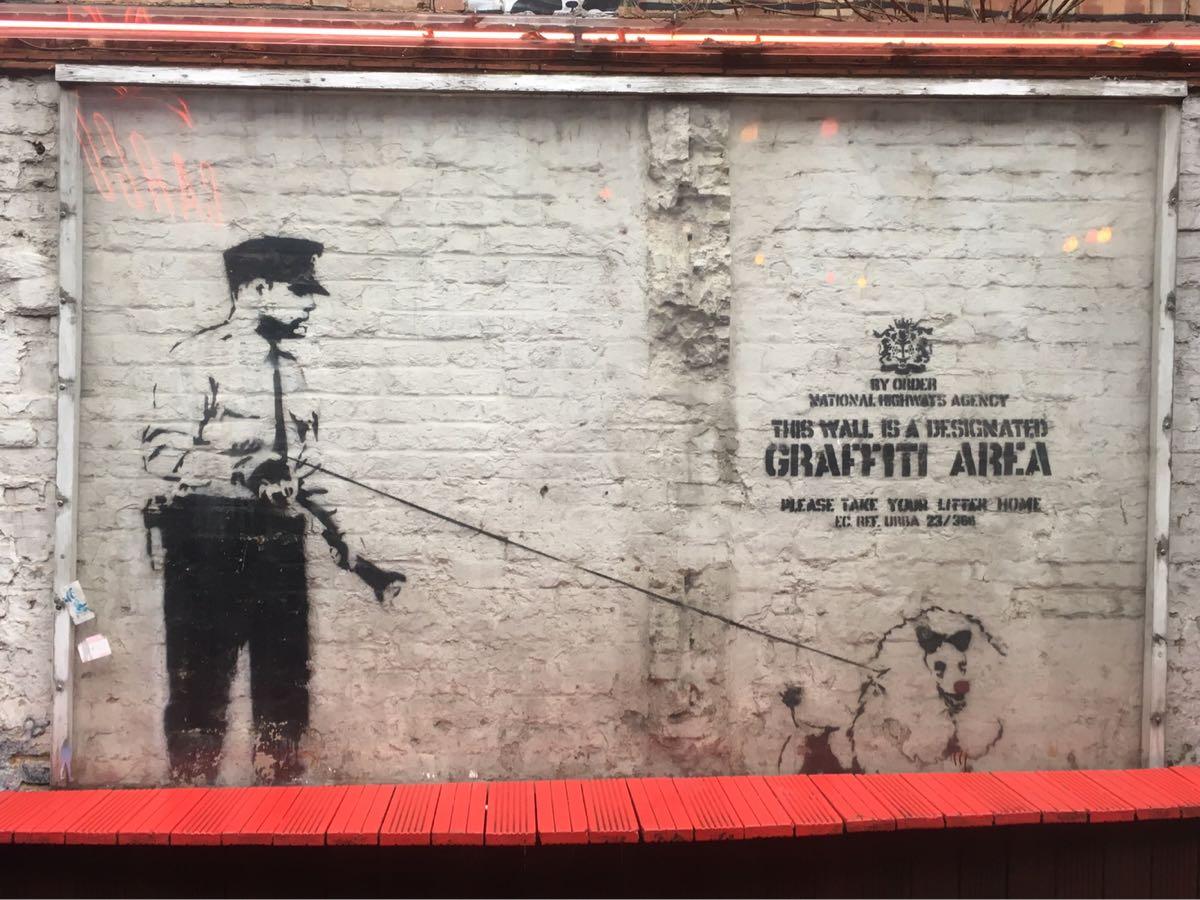 Banksy, Designated Area, Cargo Club, Rivington Street, London