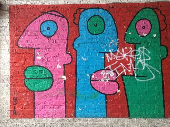Thierry Noir, Street art Shoreditch, London