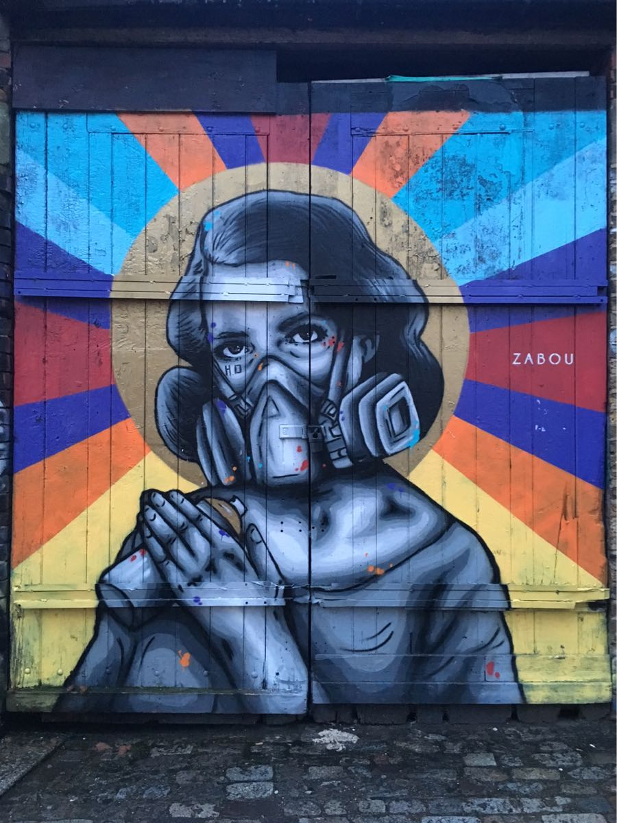 Zabou, Street art, Brick Lane, London