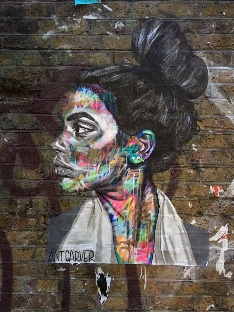 Ant Carver, artist, street art Buxton Street, London
