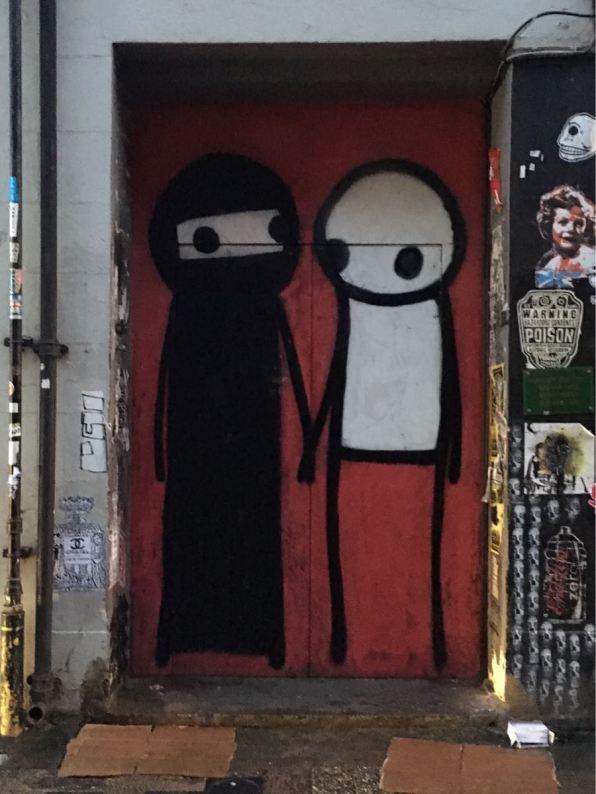 Stick, artist, Street art, Princelet Street, London