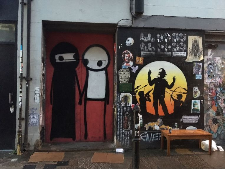 Stick & Otto Schade, artist, street art, Princelet Street, London