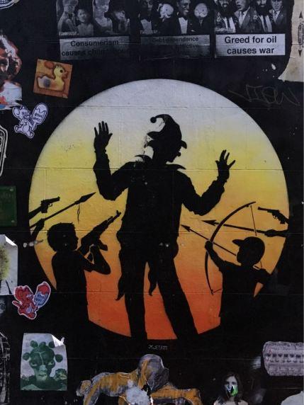 Otto Schade, artist, street art, Princelet Street, London