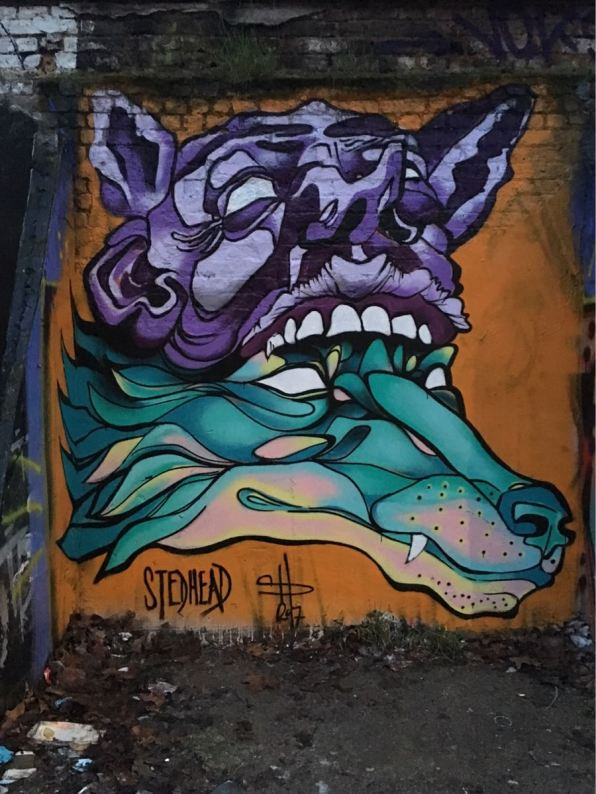 Stedhead, artist, Star Yard, street art, Brick Lane, London