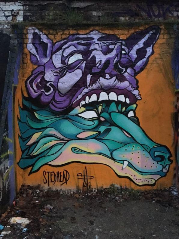 Stedhead, artist, Star Yard, street art, Brick Lane, London
