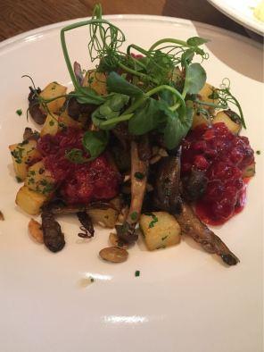 Aster Victoria, Café, London, mushroom and potato hash