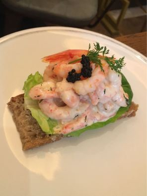 Aster Victoria, Café, London, greenland prawns citrus mayo