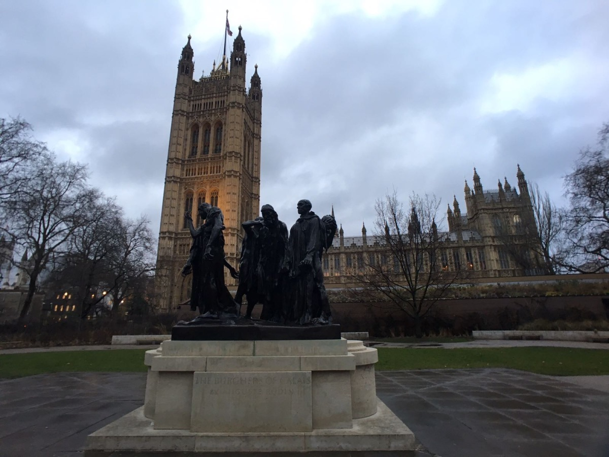 The Parliament, Westminster, Auguste Rodin, Les bourgeois de Calais