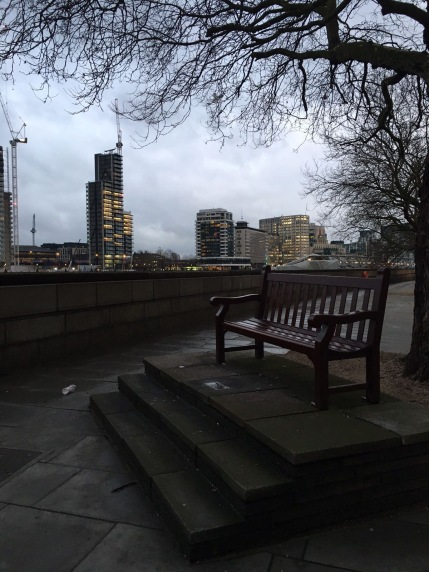 My Bench, The river thames, Westminster, London
