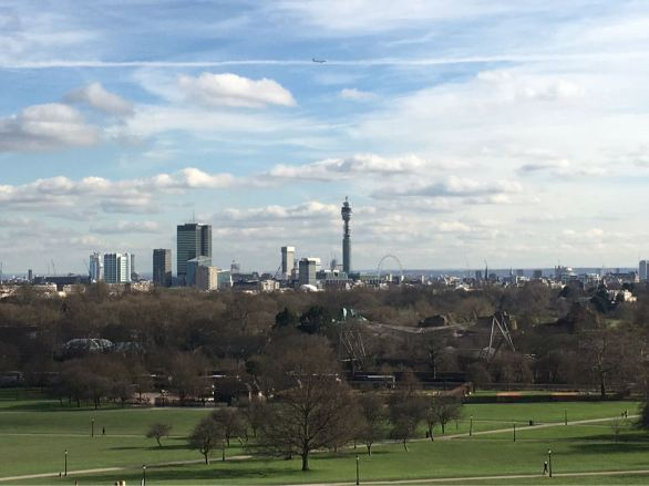 Primrose Hill, view from the Hill, London