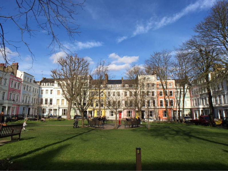 Primrose Hill, Chalcot Square, London