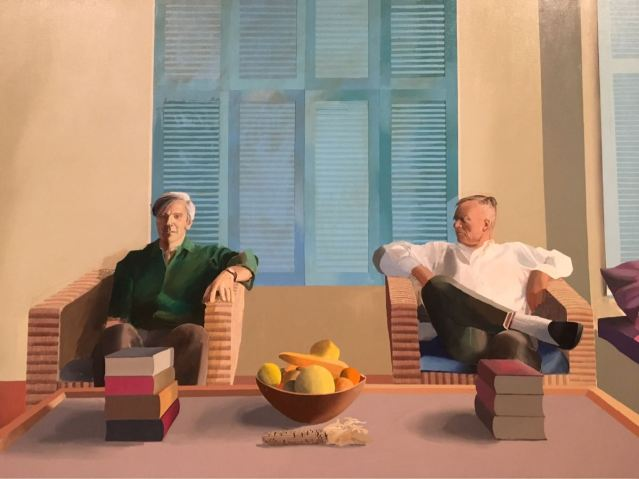 Christopher Isherwood and Don Bachardy,1968, David Hockney, Tate Britain, Exhibition, London