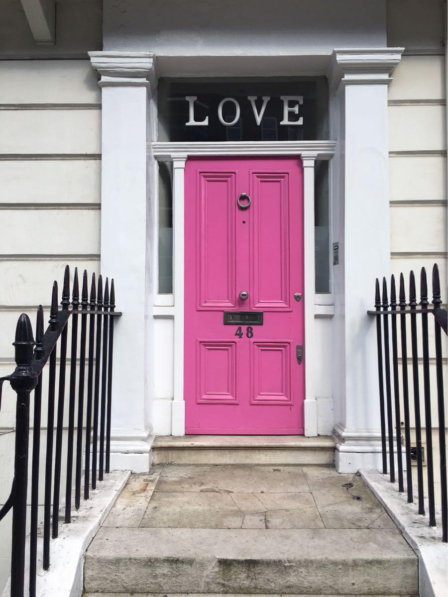 Chelsea, Pink Love Door, London