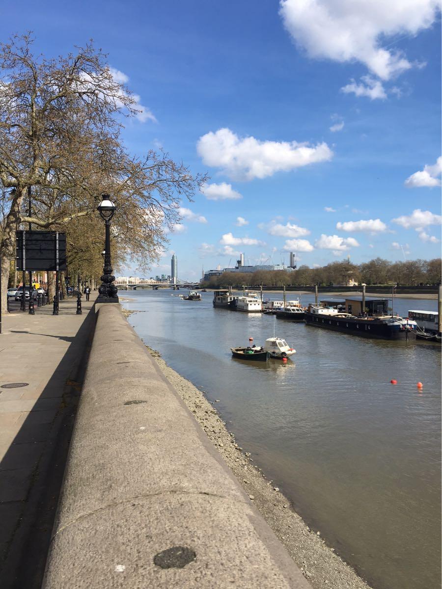 Chelsea, River Thames, View on Battersea Park, London